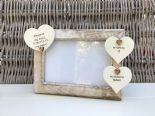 Shabby personalised Chic Photo Frame In Memory Of A Husband ~ Loved One Any Name